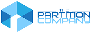 The Partition Company Logo in Blue and White